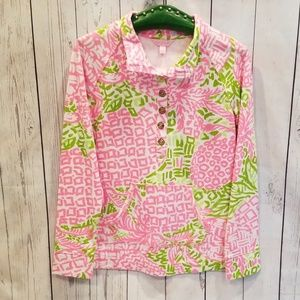 """NWT Lilly Pulitzer """"Pineapple"""" SPF Popover Top!"""